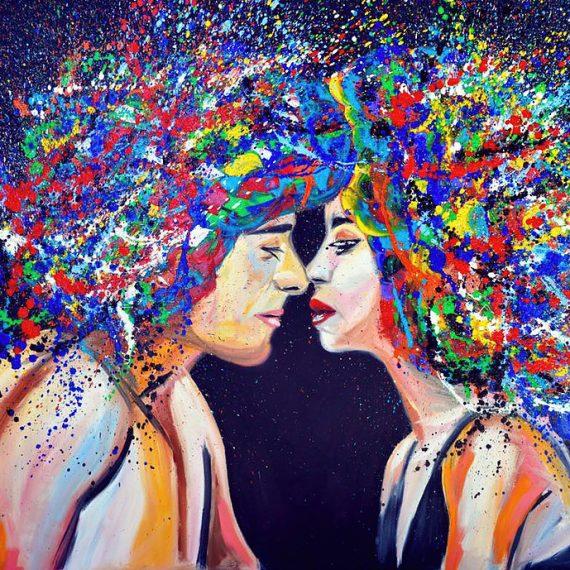 Abstract Kissing