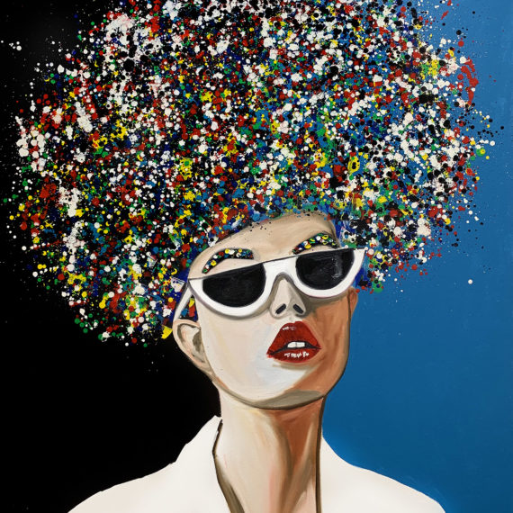White sunglasses- Original oil painting