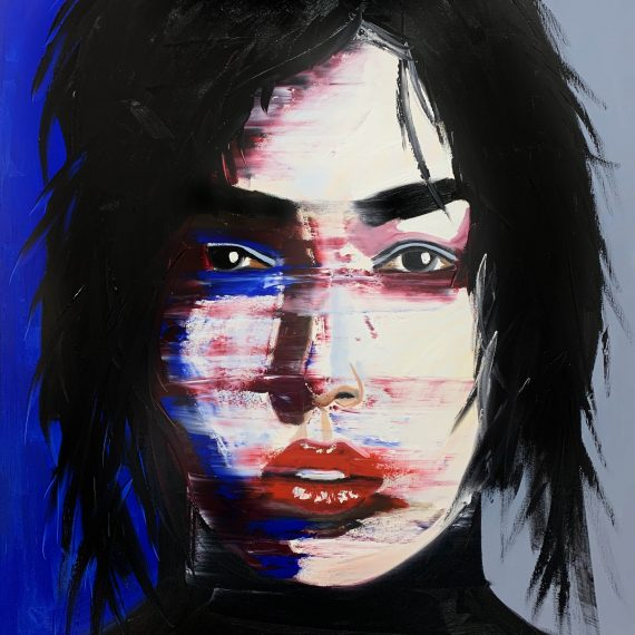 Abstract portrait- Original oil painting
